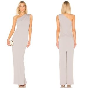Katie May Angelina One Shoulder Crepe Column Gown